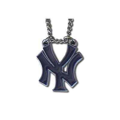 "MLB New York Yankees NY Necklace With Team Pendant 20"" Chain Gameday Jewelry"