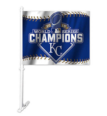 MLB Kansas City Royals World Series Champions Car Flad Window Auto Accessory