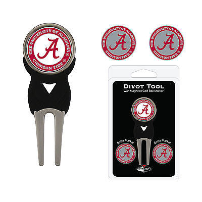 NCAA Alabama Crimson Tide Golf Divot Tool and 3 Ball Markers Enamel Team Logo