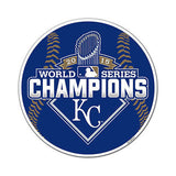 "MLB Kansas City Royals World Series Champions 12"" Magnet Car Vinyl Baseball"