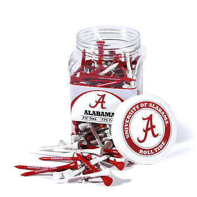 NCAA Alabama Crimson Tide Golf Tee Jar 175 Count Club Course Driver Team