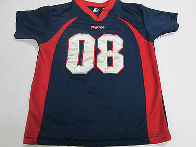 Blue Red Football Patriots Texans Colors #8 Youth Kids Jersey Shirt 10