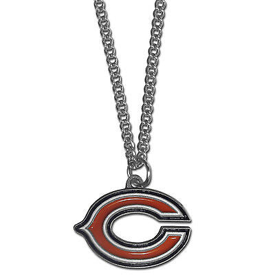 "NFL Chicago Bears Necklace With Team Pendant 20"" Chain Gameday Jewelry"