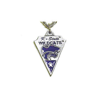 "NCAA Kansas State Wildcats Classic Chain Necklace Pendant 20"" Triangle Jewelry"
