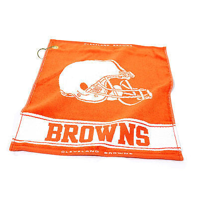 "NFL Cleveland Browns Woven Golf Towel 16"" x 19"" Course Club Bag Jacquard"
