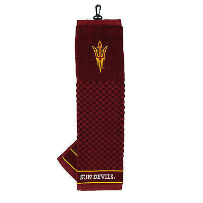 "NCAA Arizona State Sun Devils Golf Towel Embroidered Tri-Fold 16"" x 25"" Club Bag"