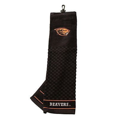 "NCAA Oregon State Beavers Golf Towel Embroidered Tri-Fold 16"" x 25"" Club Bag"
