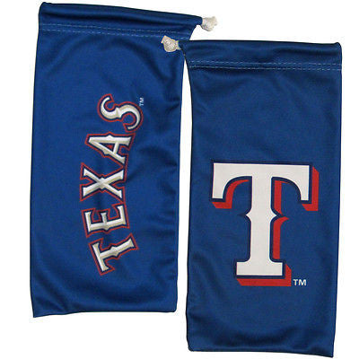 MLB Texas Rangers Blue Microfiber Eyewear Storage Bag Glasses Cleaning Cloth
