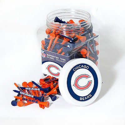 NFL Chicago Bears Golf Tee Jar 175 Count Club Course Driver Team Accessory