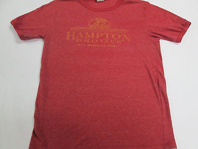 Hampton Polo Club Horse Sport For Members Only Red Ringer T-Shirt Team Shirt 20