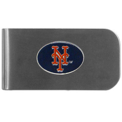 MLB New York Mets Bottle Opener Money Clip Metal Cash Holder Emblem