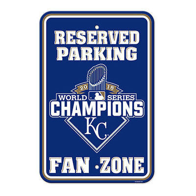 "MLB Kansas City Royals World Series Champions Parking Sign 12"" x 18"" Wall Decor"