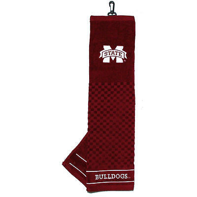 "NCAA Mississippi State Golf Towel Embroidered Tri-Fold 16"" x 25"" Club Bag"