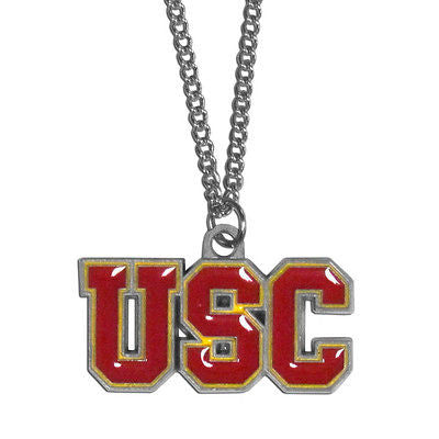 "NCAA USC Trojans Necklace With Team Pendant 20"" Chain Gameday Jewelry"