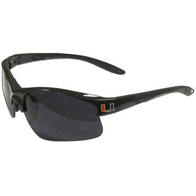 NCAA Miami Hurricanes Blade Sunglasses Wing Team Logo Series Sport Style