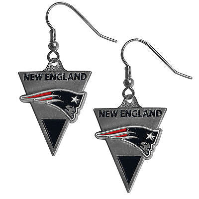 NFL New England Patriots Classic Dangle Earrings Set J Hook Triangle Jewelry