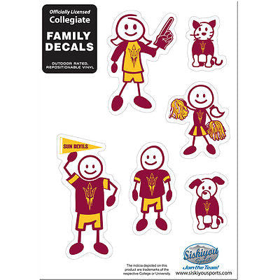 NCAA Arizona State Sun Devils Family Decal Pride Team Sticker Car Auto Sticker 6