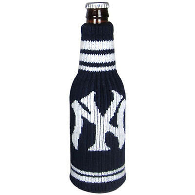 MLB New York Yankees Krazy Kover Koozie Drink Beverage Bottle Knit Holder Coozie
