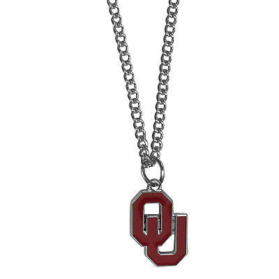 "NCAA Oklahoma Sooners Necklace With Team Pendant 20"" Chain Gameday Jewelry"