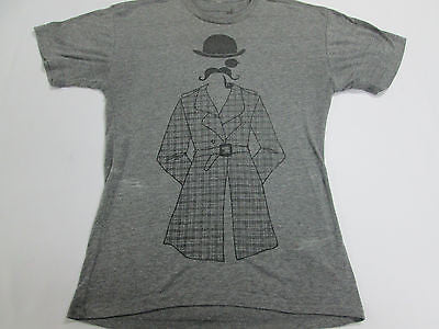 English Guy Derby Hat Mustache Plaid Coat Funny Gray T-Shirt Retro Shirt 21