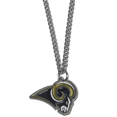 "NFL St Louis Rams Necklace With Team Pendant 20"" Chain Gameday Jewelry"