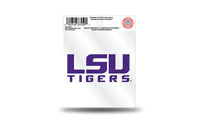 NCAA LSU Tigers Static Window Cling Sticker Team Logo Decal