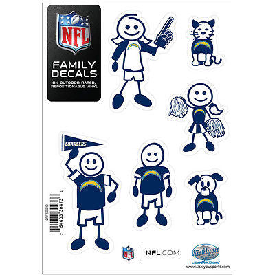 NFL San Diego Chargers Family Decal Pride Team Sticker Car Auto Sticker 6 Logo