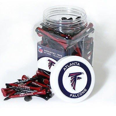 NFL Atlanta Falcons Golf Tee Jar 175 Count Club Course Driver Team Accessory