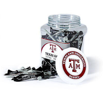 NCAA Texas A&M Aggies Golf Tee Jar 175 Count Club Course Driver Team Accessory