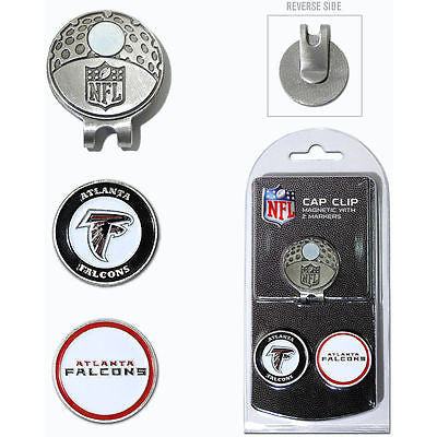 NFL Atlanta Falcons Golf Cap Clip and 2 Ball Markers Enamel Team Logo Hat