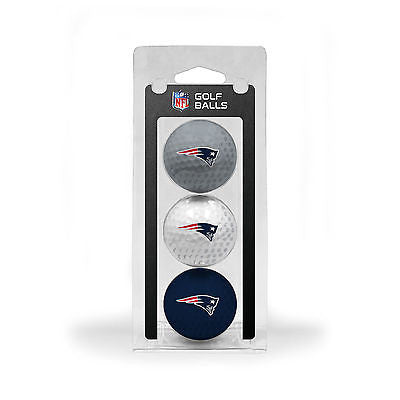 NFL New England Patroits Regulation Golf Balls 3 Pack Sleeve Putting Club Course