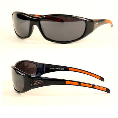MLB Detroit Tigers 3 Dot Sunglasses Team Logo Series Sport Wrap Style