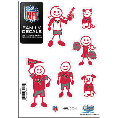 NFL Tampa Bay Buccaneers Family Decal Pride Team Sticker Car Auto Sticker 6 Logo
