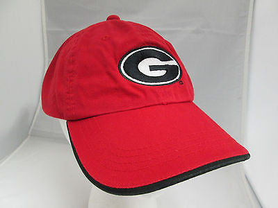 NCAA Georgia Bulldogs Red Adjustable Retro Vintage Hat Cap