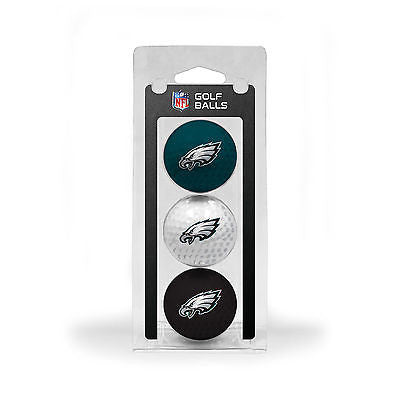 NFL Philadelphia Eagles Regulation Golf Balls 3 Pack Sleeve Putting Club Course
