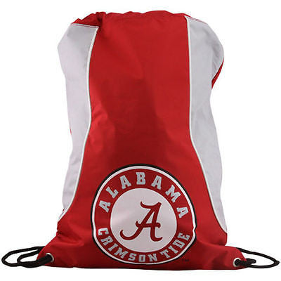 NCAA Alabama Crimson Axis Backpack Cinch String Bag Tote Drawstring Pouch Sling