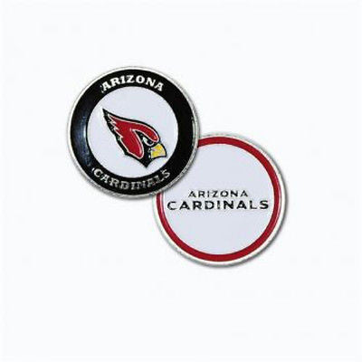 NFL Arizona Cardinals Golf Ball Marker Enamel Metal Team Logo 2 Sided Hat