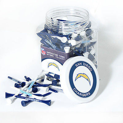 NFL San Diego Chargers Golf Tee Jar 175 Count Club Course Driver Team Accessory