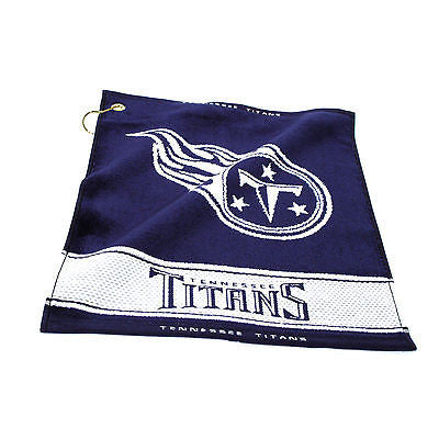 "NFL Tennessee Titans Woven Golf Towel 16"" x 19"" Course Club Bag Jacquard"