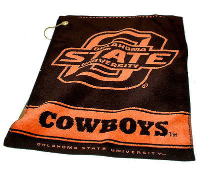 "NCAA Oklahoma State Cowboys Woven Golf Towel 16"" x 19"" Course Club Bag Jacquard"