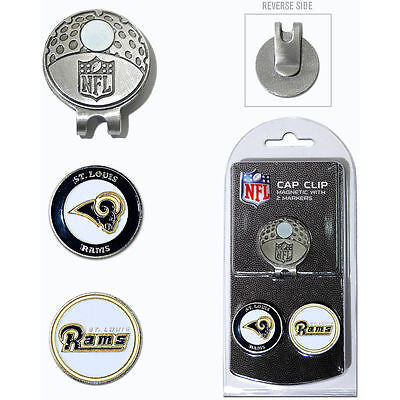 NFL St Louis Rams Golf Cap Clip and 2 Ball Markers Enamel Team Logo Hat