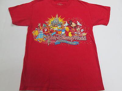 Disney Land World Magic Kingdom Mickey Mouse Red T-Shirt Team Shirt 20