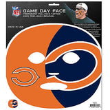 NFL Chicago Bears Game Day Face Full Temporary Tattoo Decal Football