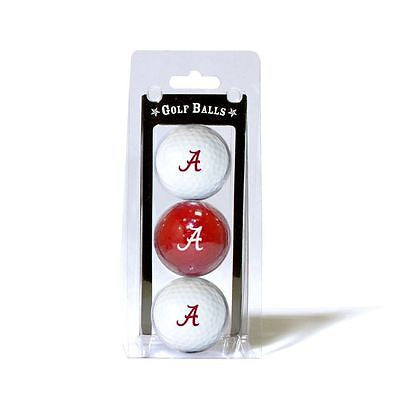 NCAA Alabama Crimson Tide Regulation Golf Balls 3 Pack Sleeve Putting Club Three