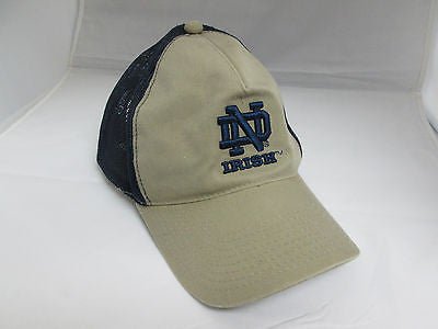 NCAA Notre Dame Fighting Irish ND Mesh Trucker Snapback Retro Vintage Hat Cap
