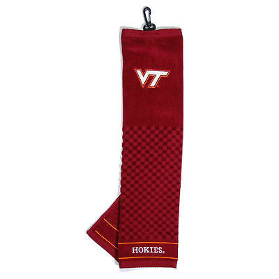 "NCAA Virginia Tech Hokies Golf Towel Embroidered Tri-Fold 16"" x 25"" Club Bag"