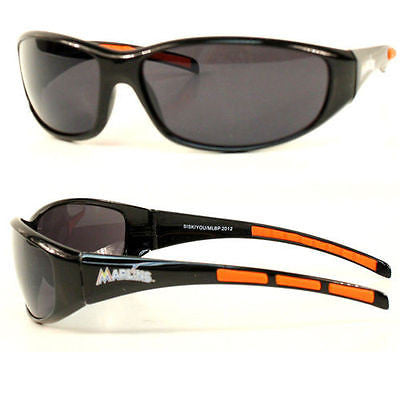 MLB Miami Marlins 3 Dot Sunglasses Team Logo Series Sport Wrap Style