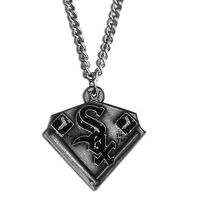 "MLB Chicago White Sox Classic Chain Necklace Team Pendant 20"" Triangle Jewelry"