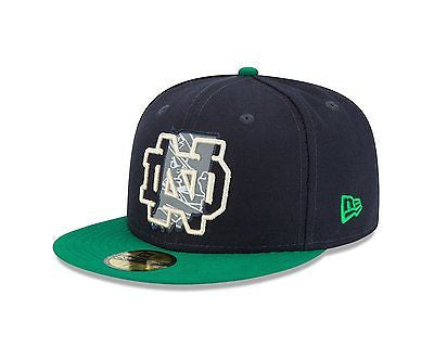NCAA Notre Dame Irish Hat State Flective Redux 59fifty Cap New Era 5950 7 3/8