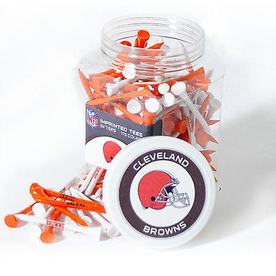 NFL Cleveland Browns Golf Tee Jar 175 Count Club Course Driver Team Accessory